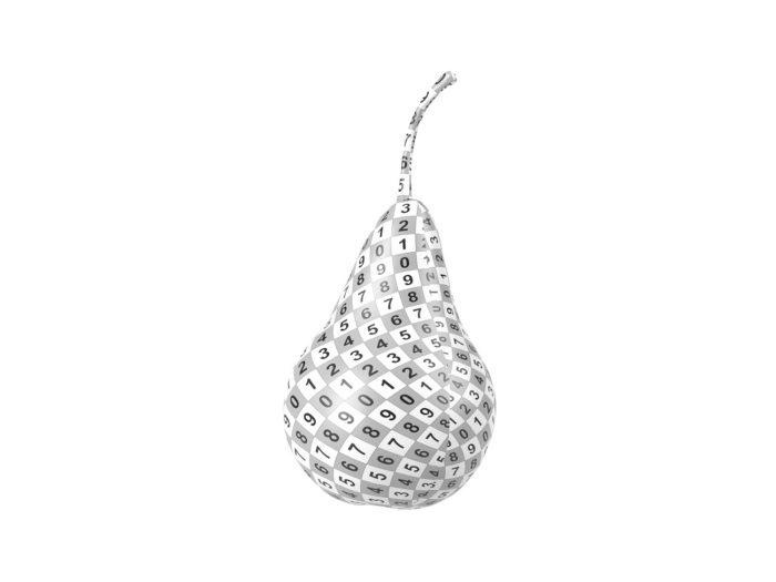 uv rendering of a pear 3d model