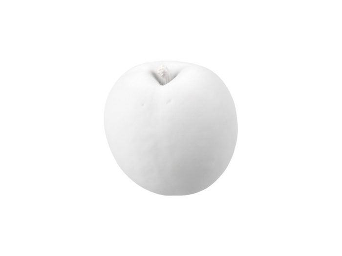 clay rendering of a nectarine 3d model