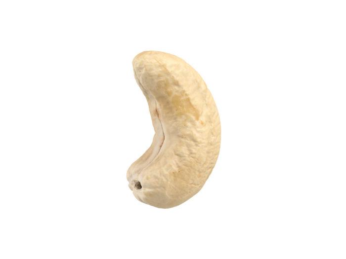 side view rendering of a cashew nut 3d model