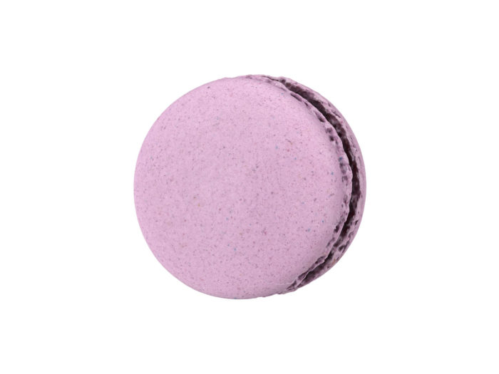 top view rendering of a blueberry macaron 3d model