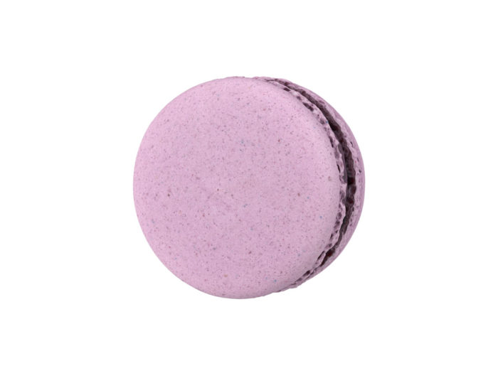bottom view rendering of a blueberry macaron 3d model