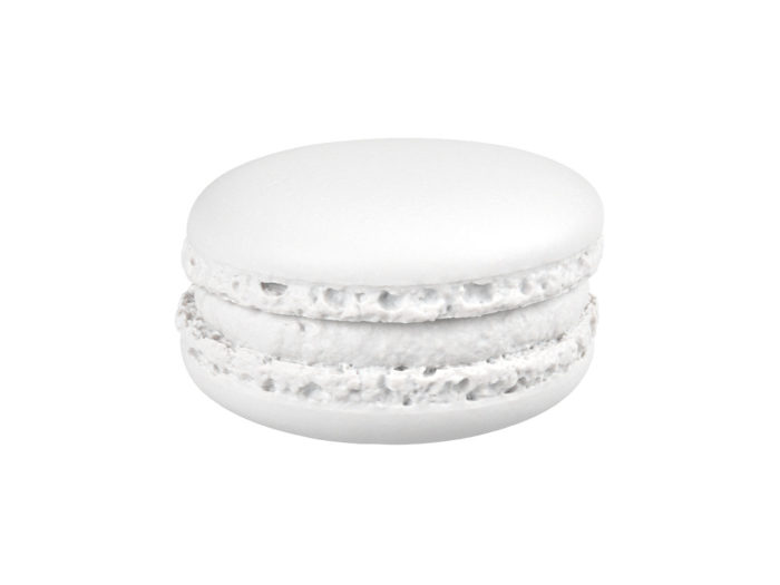 clay rendering of a blueberry macaron 3d model