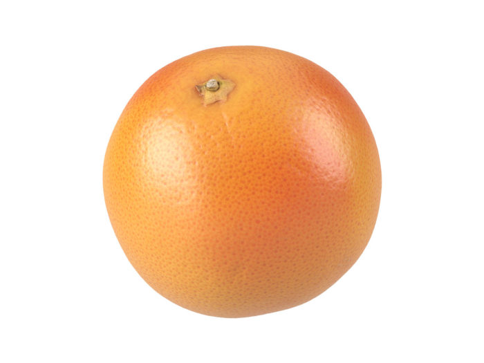 perspective view rendering of a grapefruit 3d model