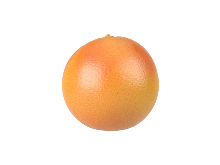 side view rendering of a grapefruit 3d model