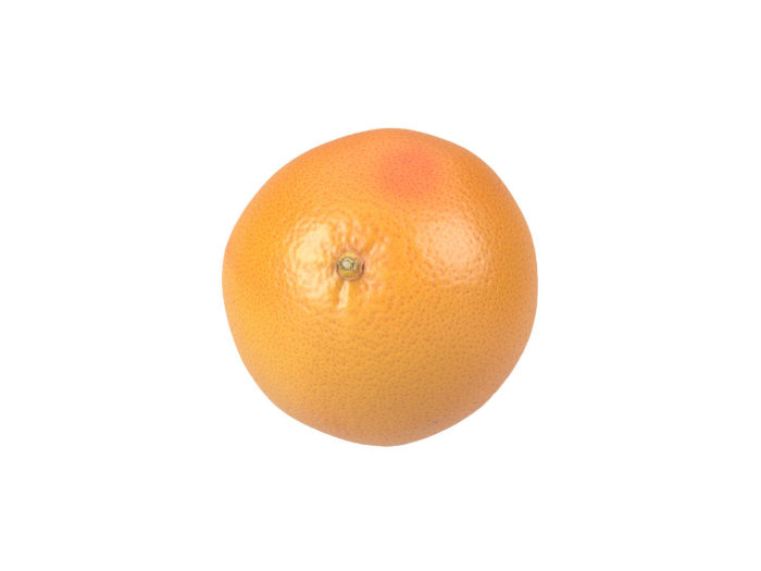 top view rendering of a grapefruit 3d model