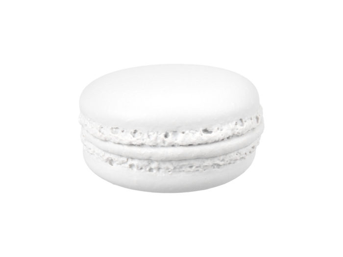 clay rendering of a raspberry macaron 3d model
