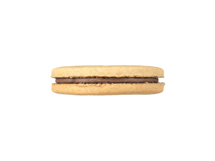 side view rendering of a cookie sandwich 3d model