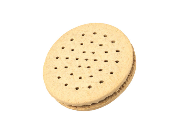 perspective view rendering of a cookie sandwich 3d model
