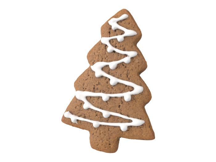 top view rendering of a gingerbread christmas tree 3d model