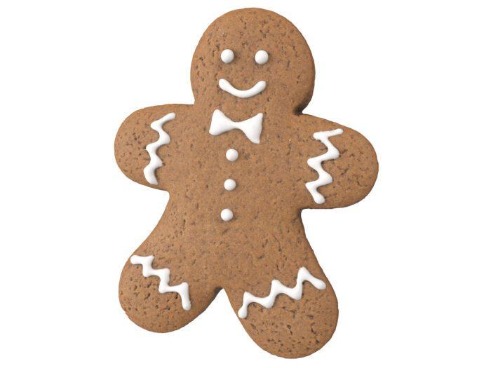 top view rendering of a gingerbread man 3d model
