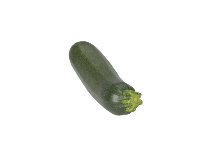 top view rendering of a zucchini 3d model