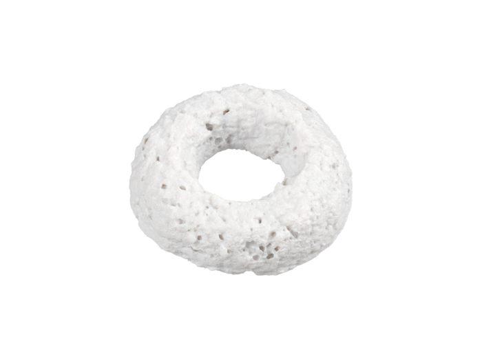 clay rendering of a cereal loop 3d model