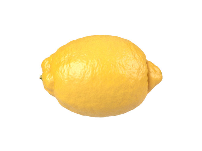 side view rendering of a lemon 3d model