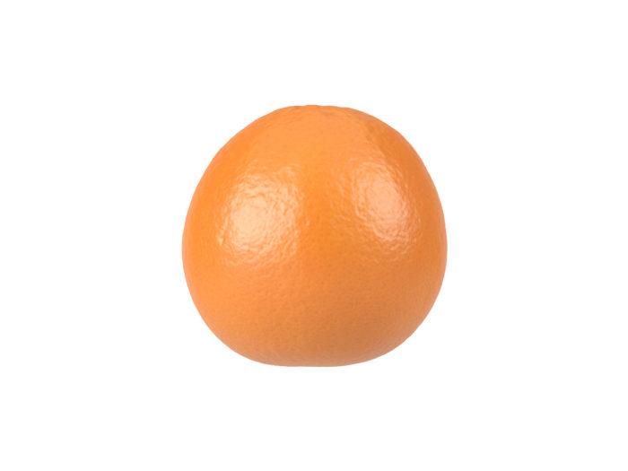 side view rendering of an orange 3d model