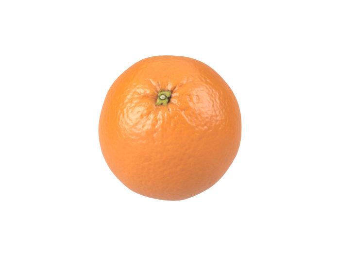 top view rendering of an orange 3d model