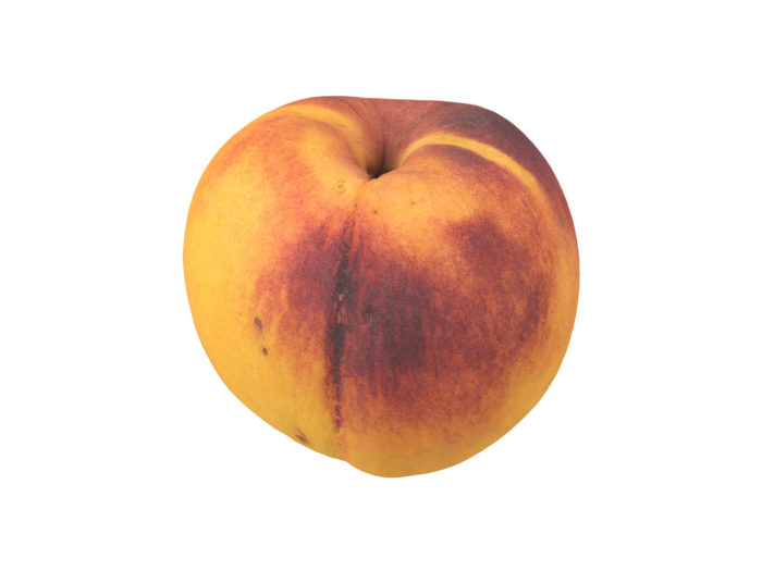 perspective view rendering of a peach 3d model