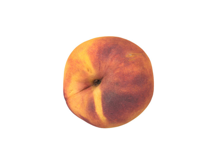 top view rendering of a peach 3d model