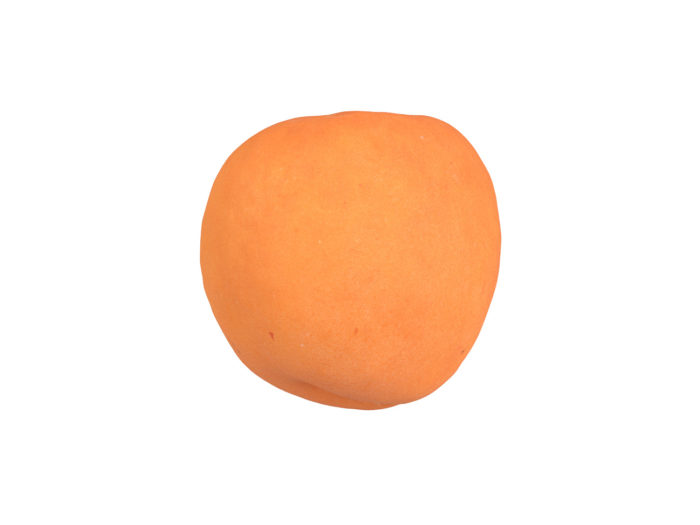 side view rendering of an apricot 3d model