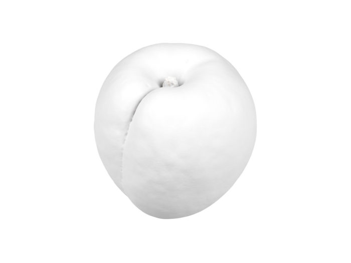 clay rendering of an apricot 3d model