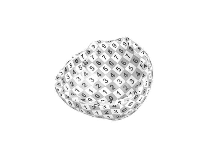 uv rendering of a hazelnut shell 3d model